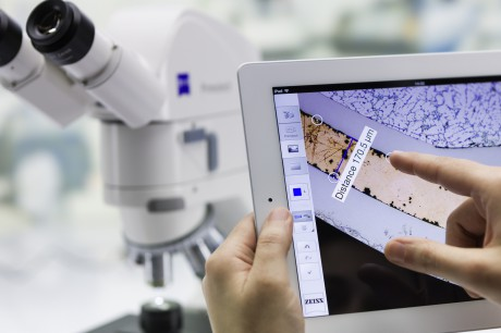 Carl zeiss digitales mikroskop primotech mit integrierter 3mp oder